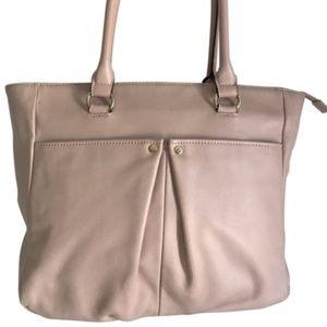 Tignanello Cream Leather Handbag MSRP $170